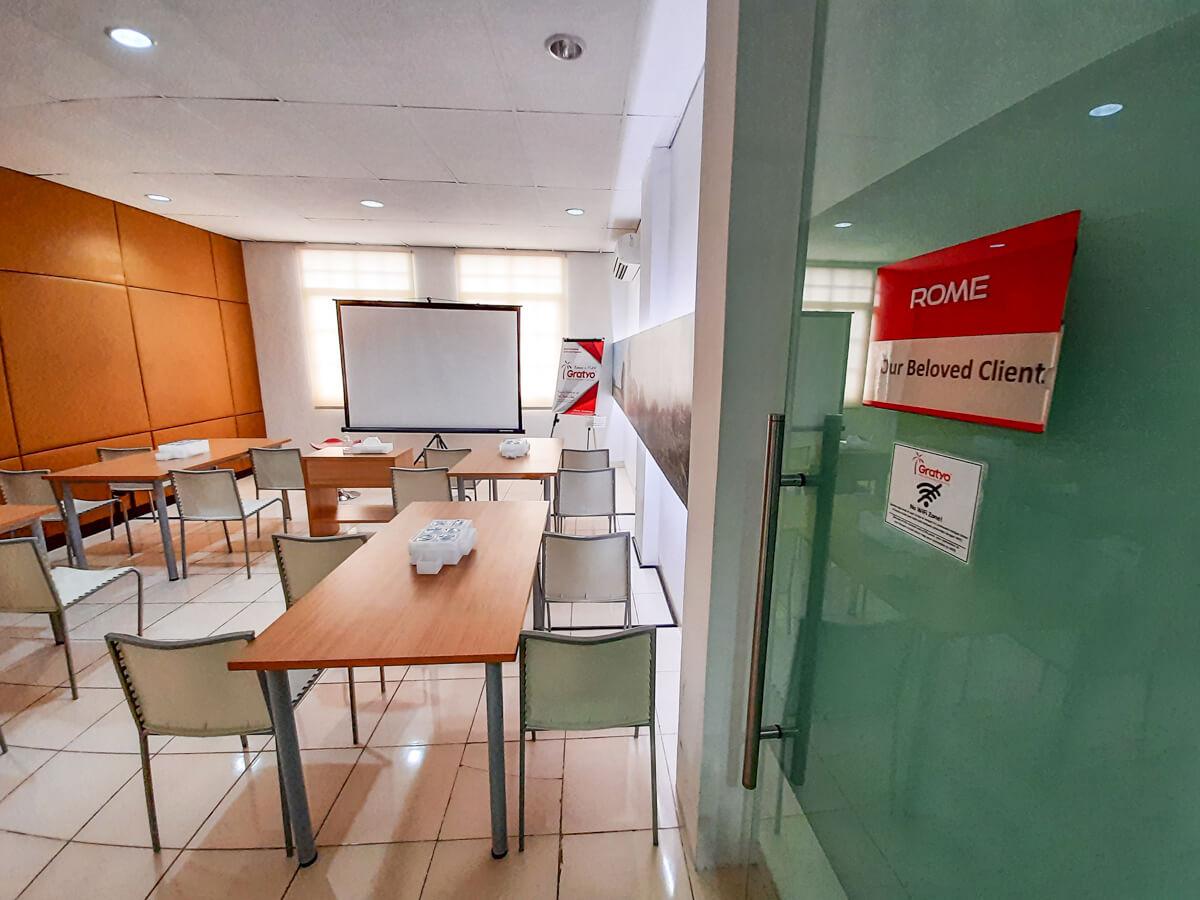Sewa Meeting Room di Mall of Indonesia - Rome Room - G-District